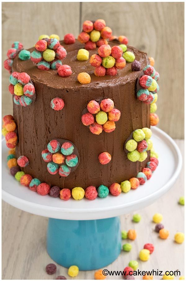 trix cereal cake (With images)   Cake decorating books ...