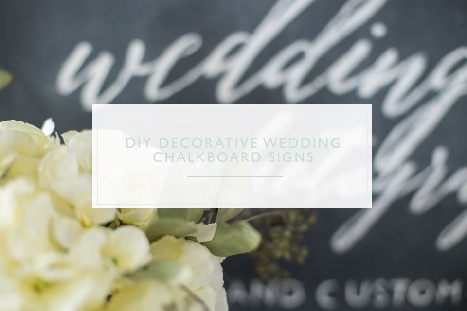 How to Make a Beautiful DIY Wedding Chalkboard Sign in 6 easy steps! Check out the blog for more info.