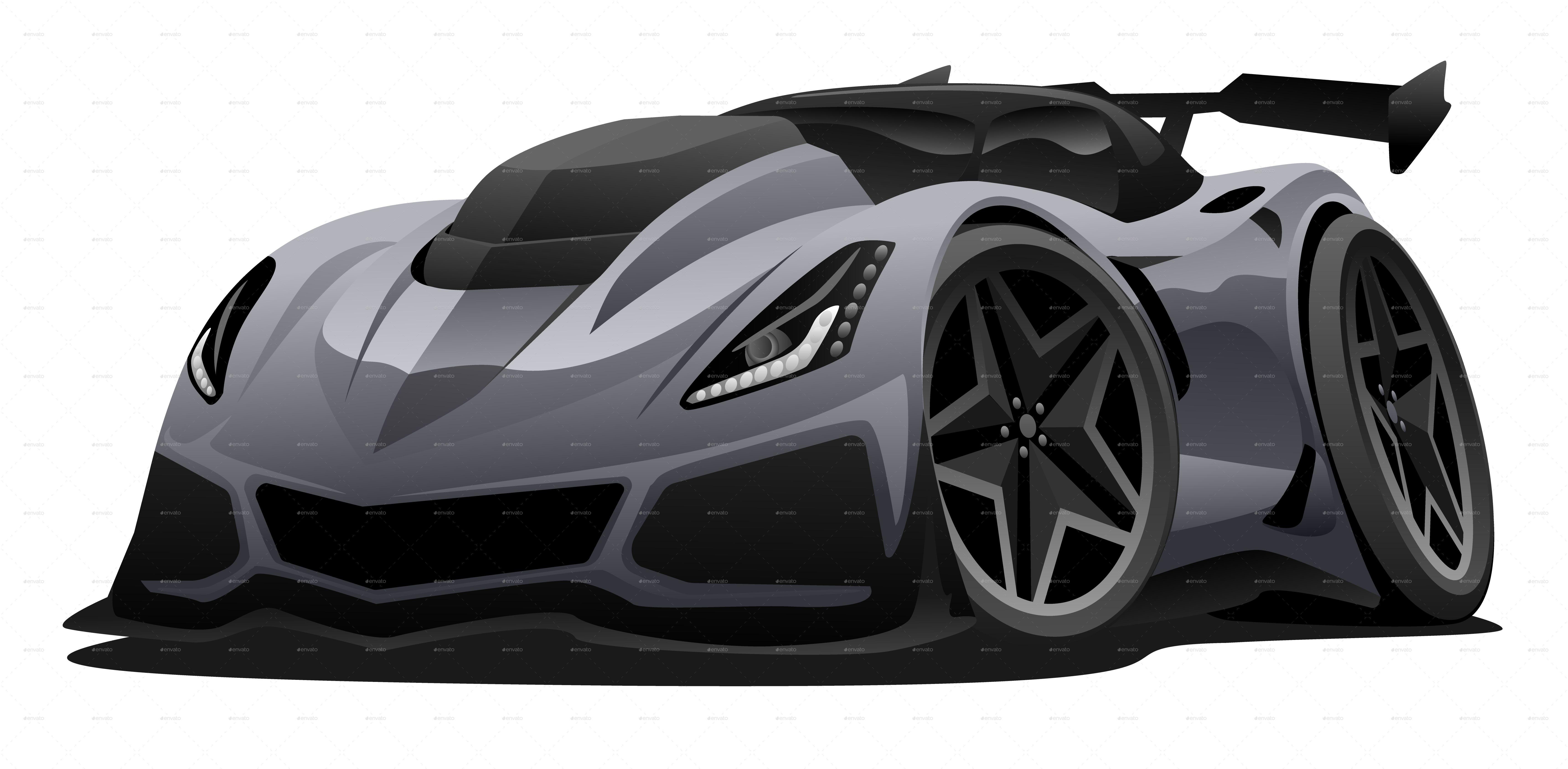 Modern American Sports Car Cartoon Car Cartoon Sports Car Car Vector
