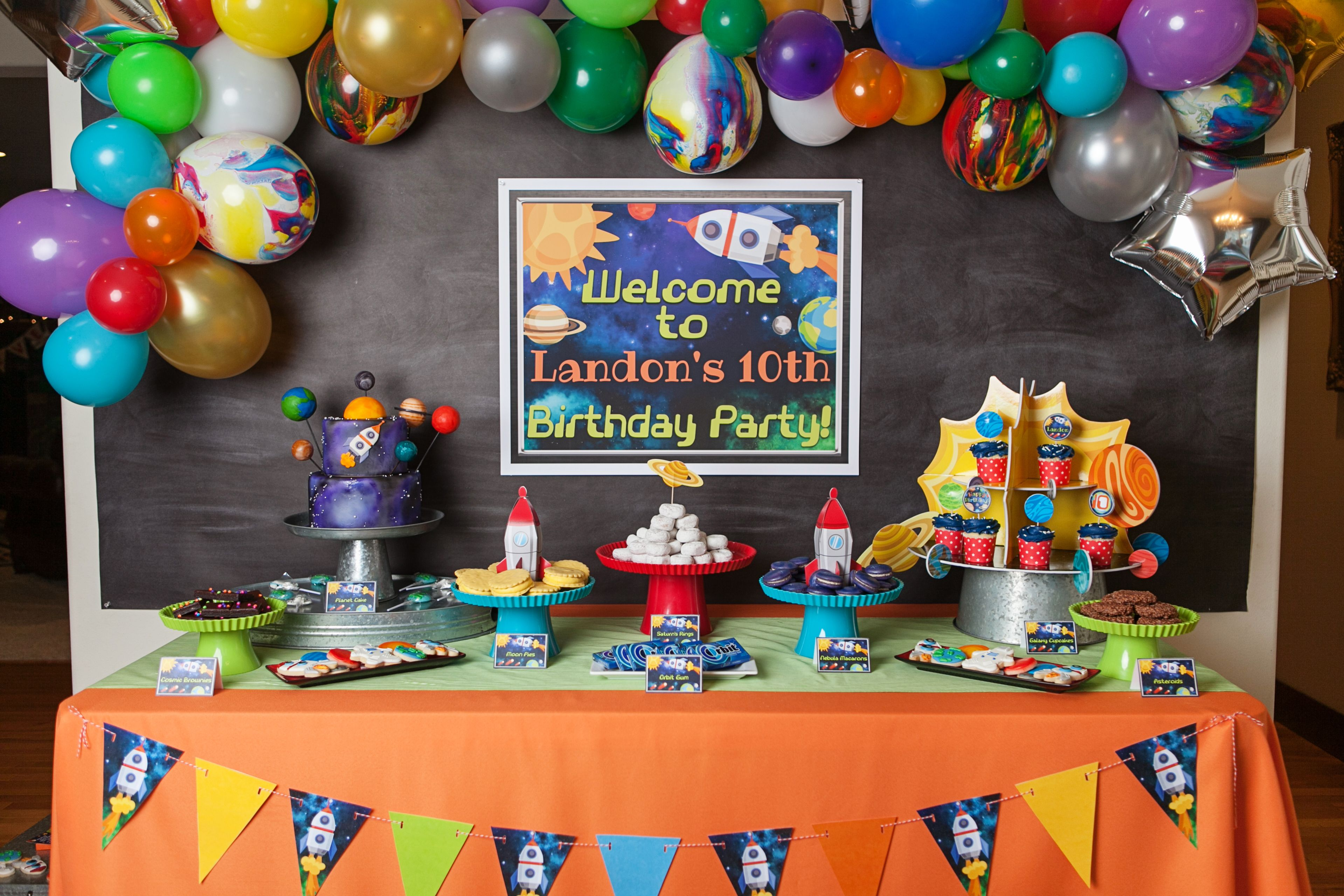 An OutofthisWorld Boy's Space Themed Birthday Party in
