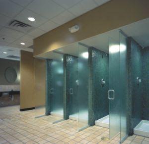 Shower at the gym fitness gym showers restroom design locker