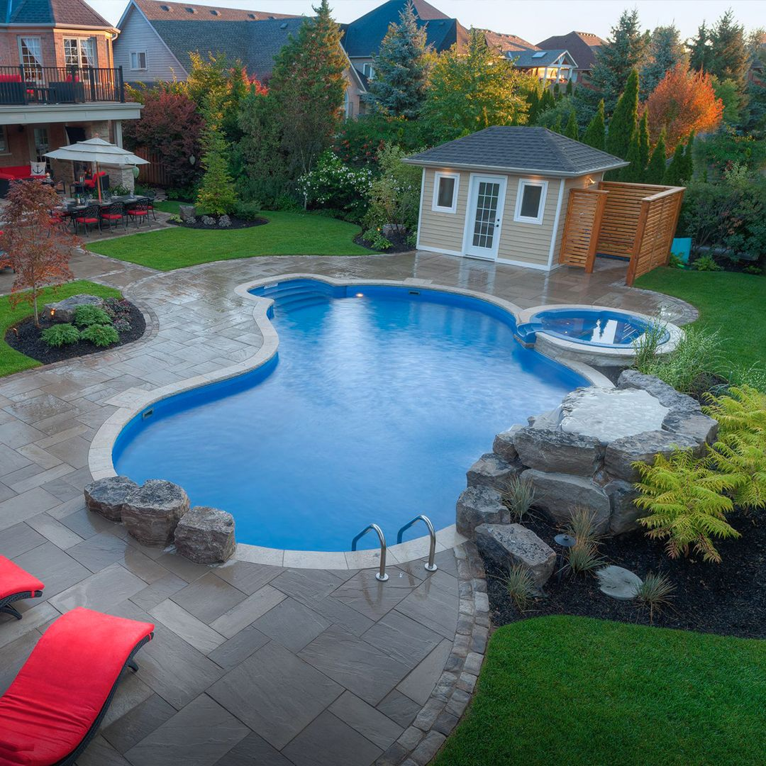 The Macdowells Pioneer Family Pools Pools Backyard Inground Backyard Pool Landscaping Pool Landscape Design