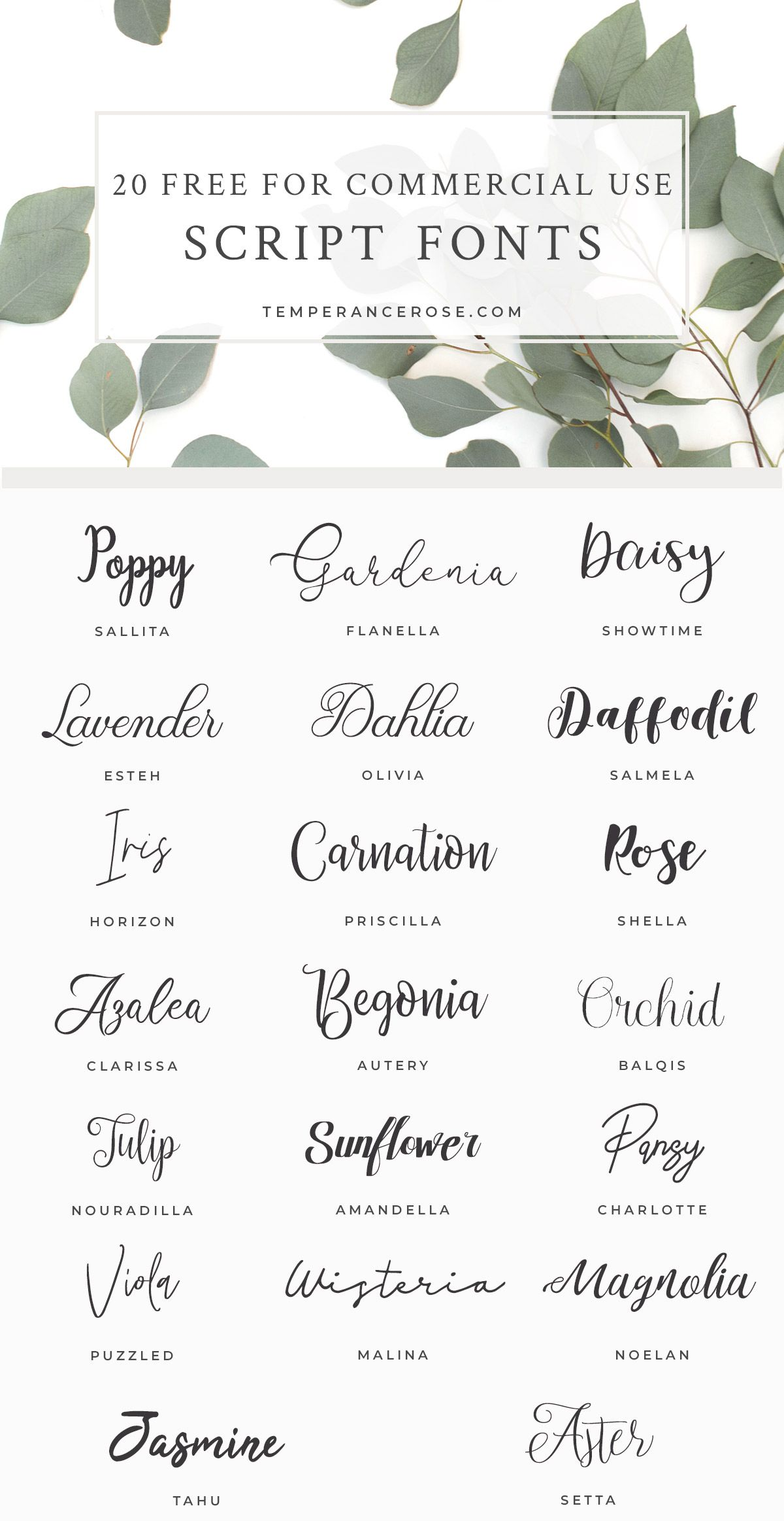 20 free for commercial use script fonts for your