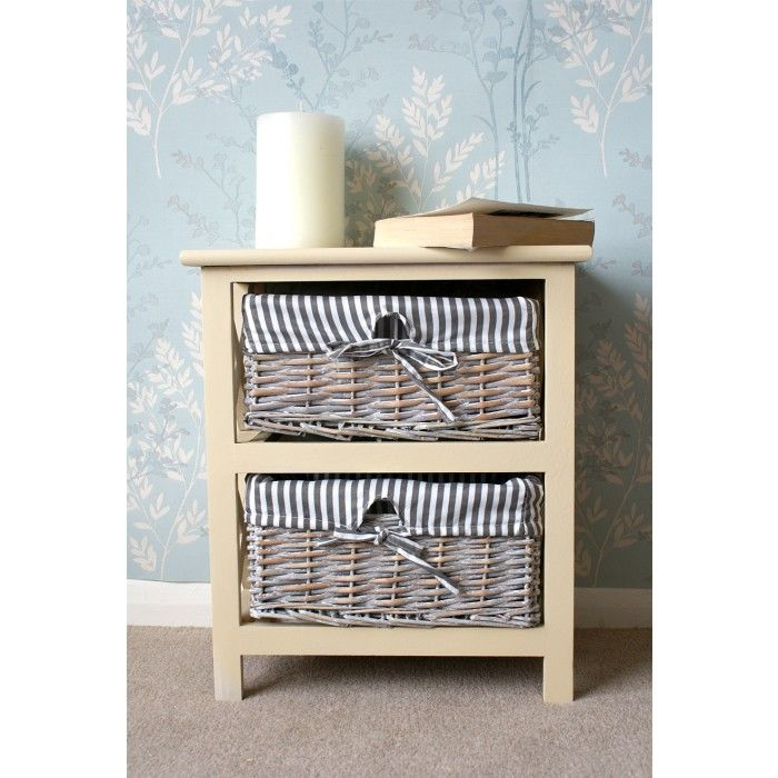 Incroyable Selsey 2 Drawer Wicker Storage Unit