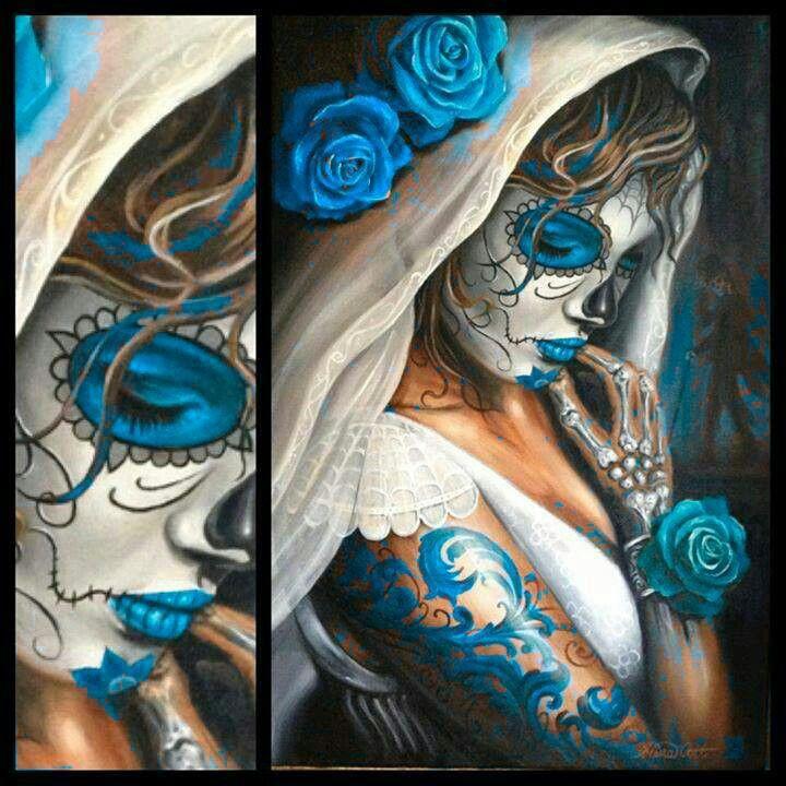 Dia de los muertos azul