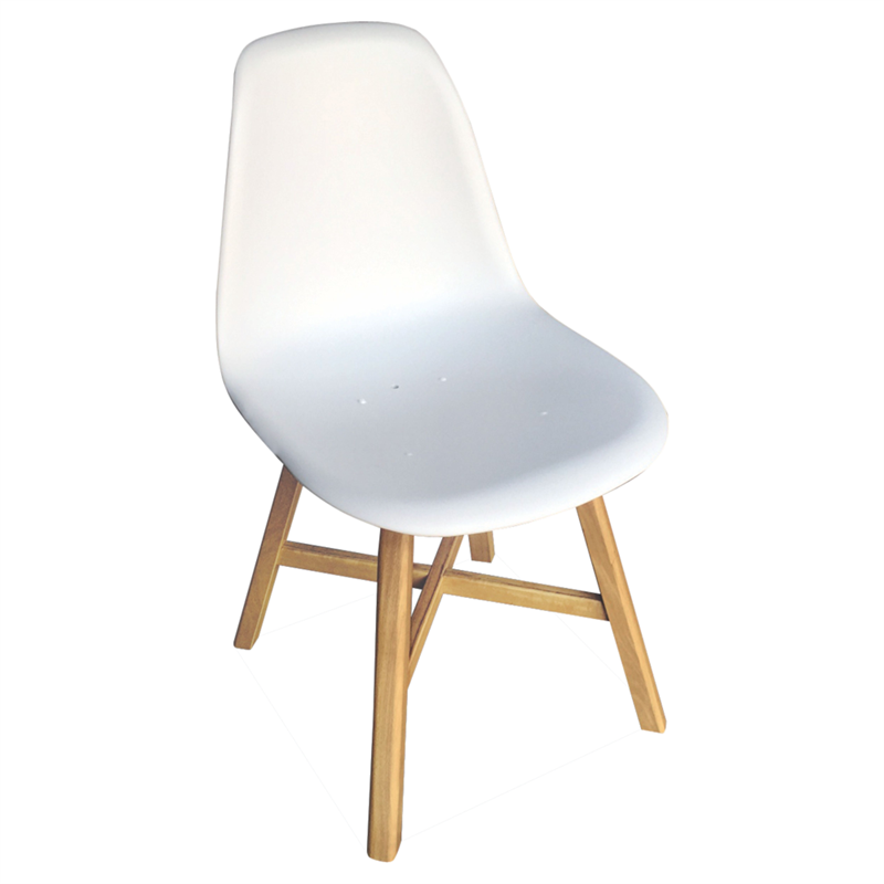 Find Mimosa White Plastic And Timber Chair At Bunnings Warehouse