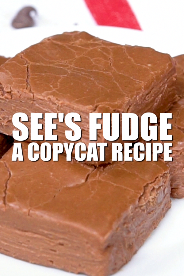 This See's Fudge is a copycat recipe takes 15 minutes to make and is hands down the best fudge recipe I've ever had.  It tastes just like the real thing!