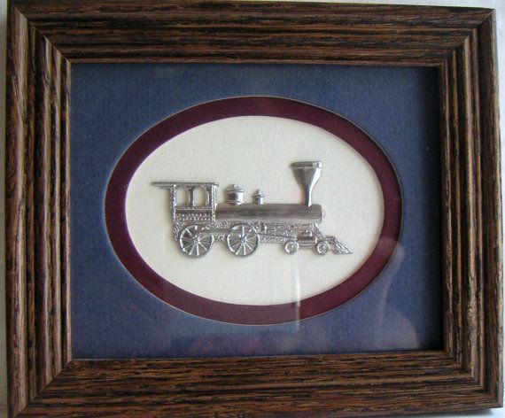 Vintage Wall Hanging Pewter Train By Reed Pewter | Vintage walls ...