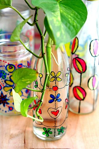 20 Easy Glass Painting Projects Diy Glass Paint Painting