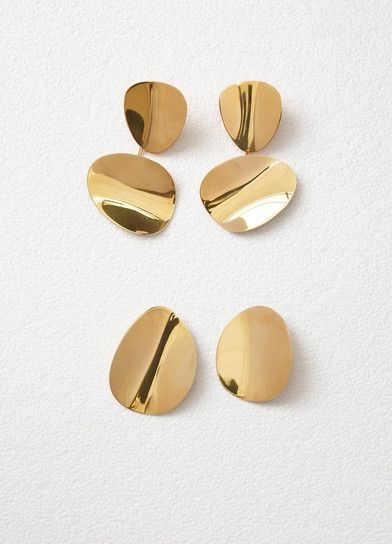 Petal Earrings In Gold Br Céline