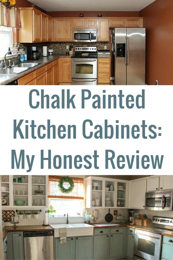 Chalk painted kitchen cabinets 2 years later chalk for Who paints kitchen cabinets