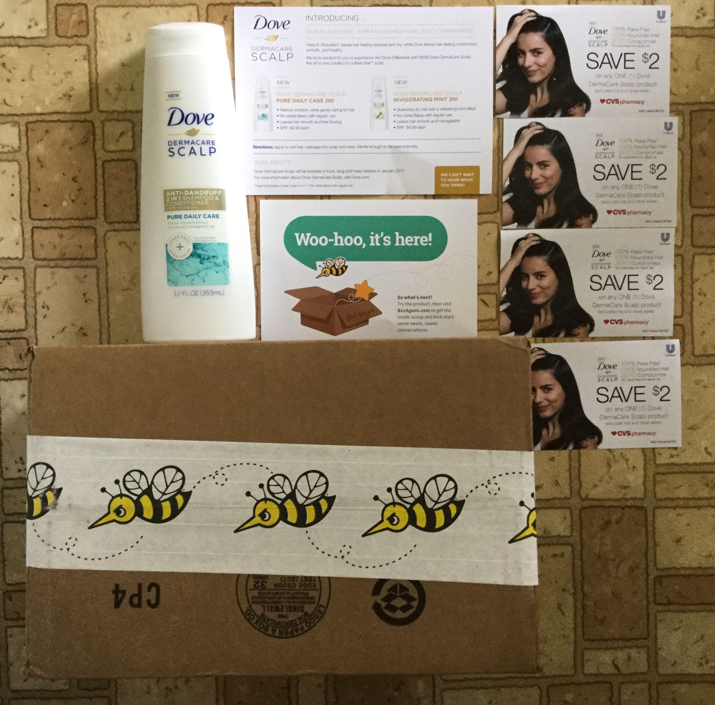 Free Dove DERMACARE Scalp Anti-Dandruff 2-1 shampoo & conditioner #freestuff #freebies #samples #free