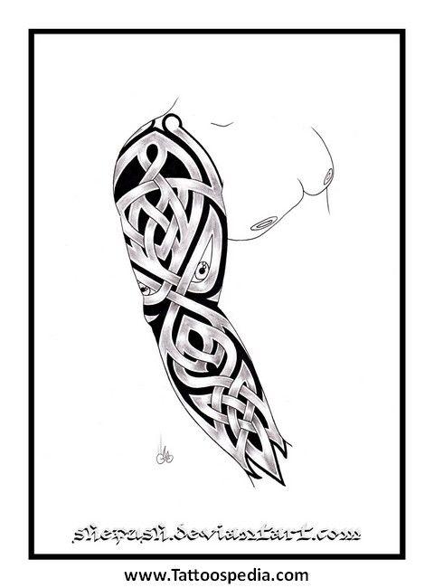Tattoo Sleeve Arm Template 4 - Tattoospedia. Sleeve Tattoo Template ...