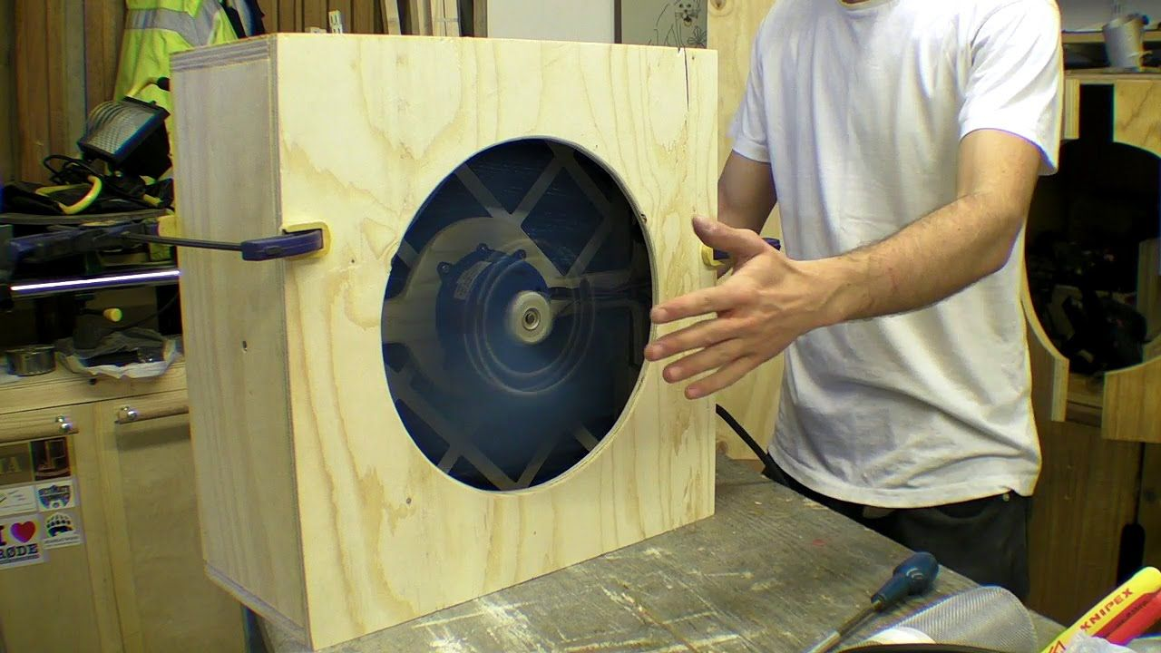 diy pleated air filter / scrubber for workshop