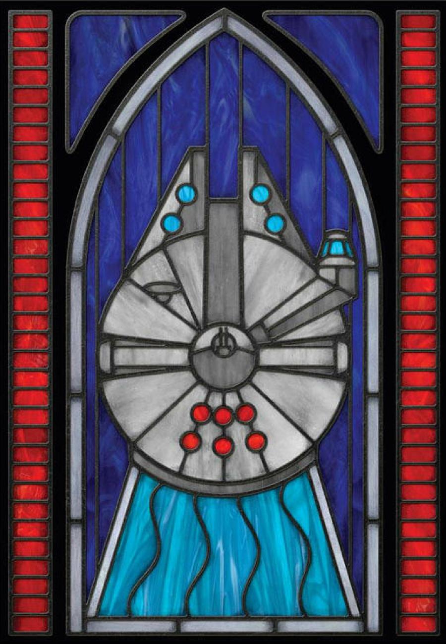 Stained Glass Style Window Film Millenium Falcon Star Wars Han Solo Wall Art Privacy Window Home Decor Easy Dorm Room Decor Affiliate Starwars