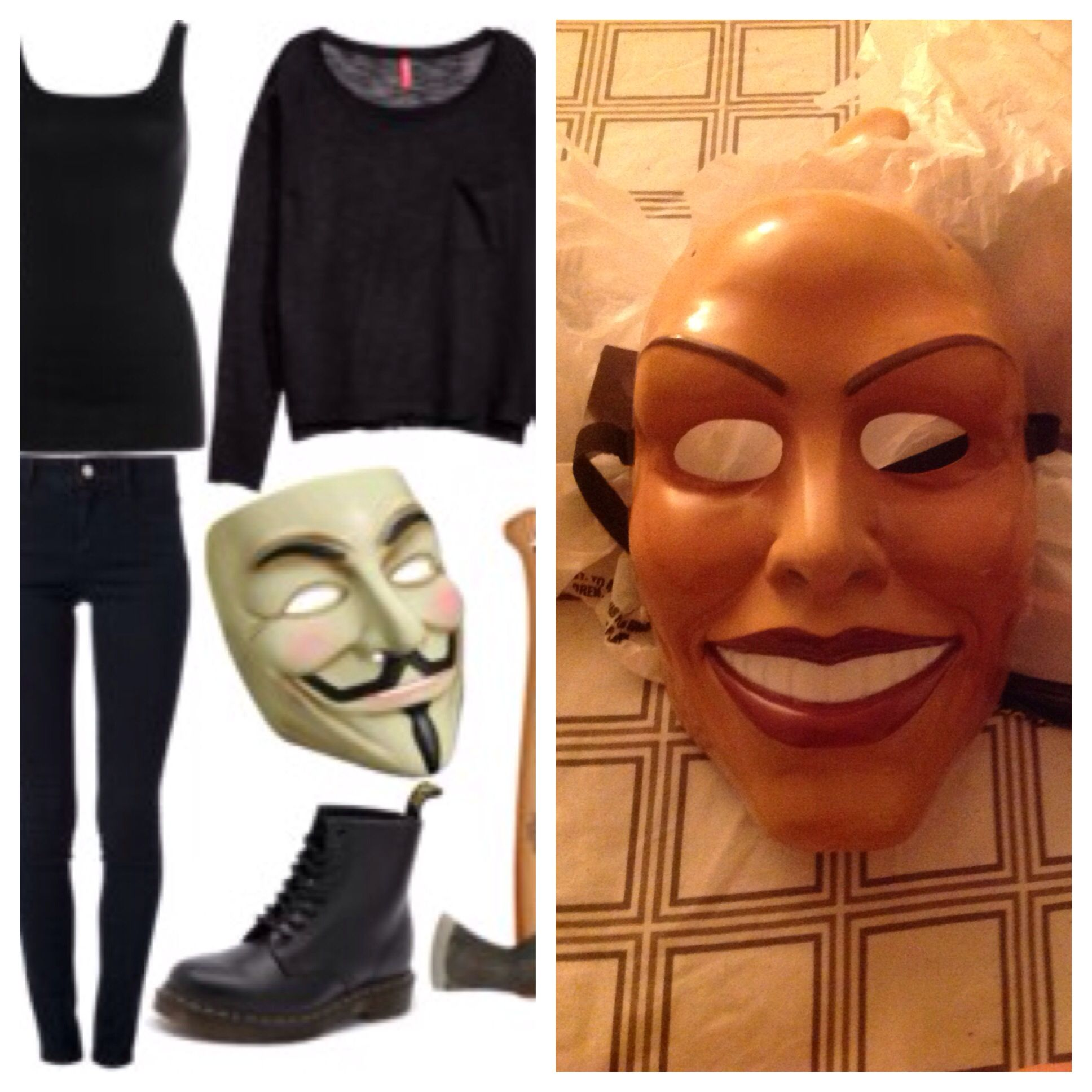 this is my idea for the purge halloween costume. it was really hard