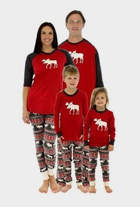 363b5c22f0 Weixinbuy Family Matching Christmas Sleepwear Mom Dad Deer Striped Pajamas  Set  Clothing Amazon http
