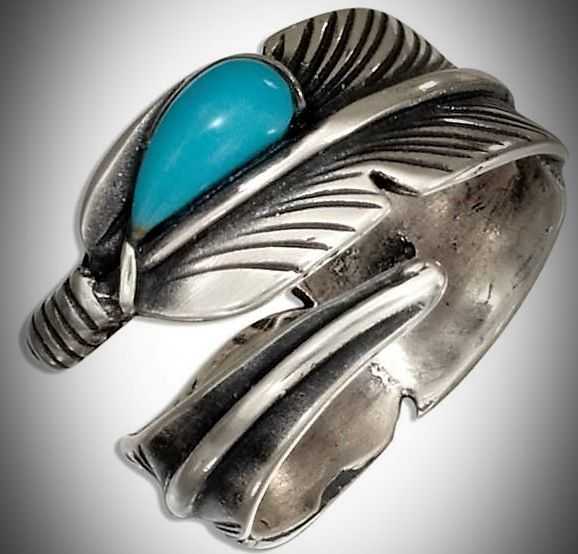 Sterling Silver Feather Bypass Ring