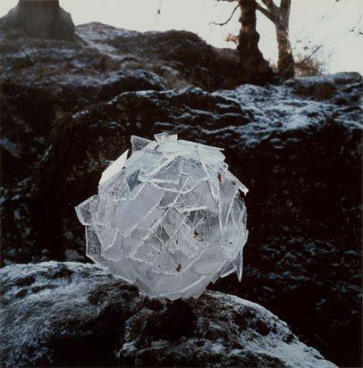 Andy Goldsworthy (Born 1956)  TitleIce Sphere (Scaur Water, Penpont, Dumfriesshire)  Date1987  // ephemeral beauty...
