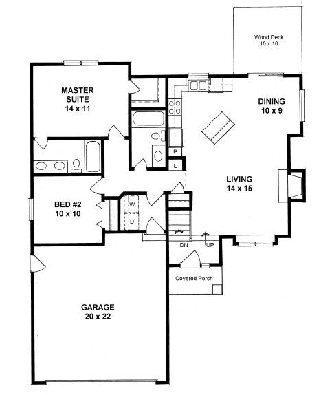 Plan #0980   2 Bed 2 Bath Ranch Style Starter Home Nice Ideas
