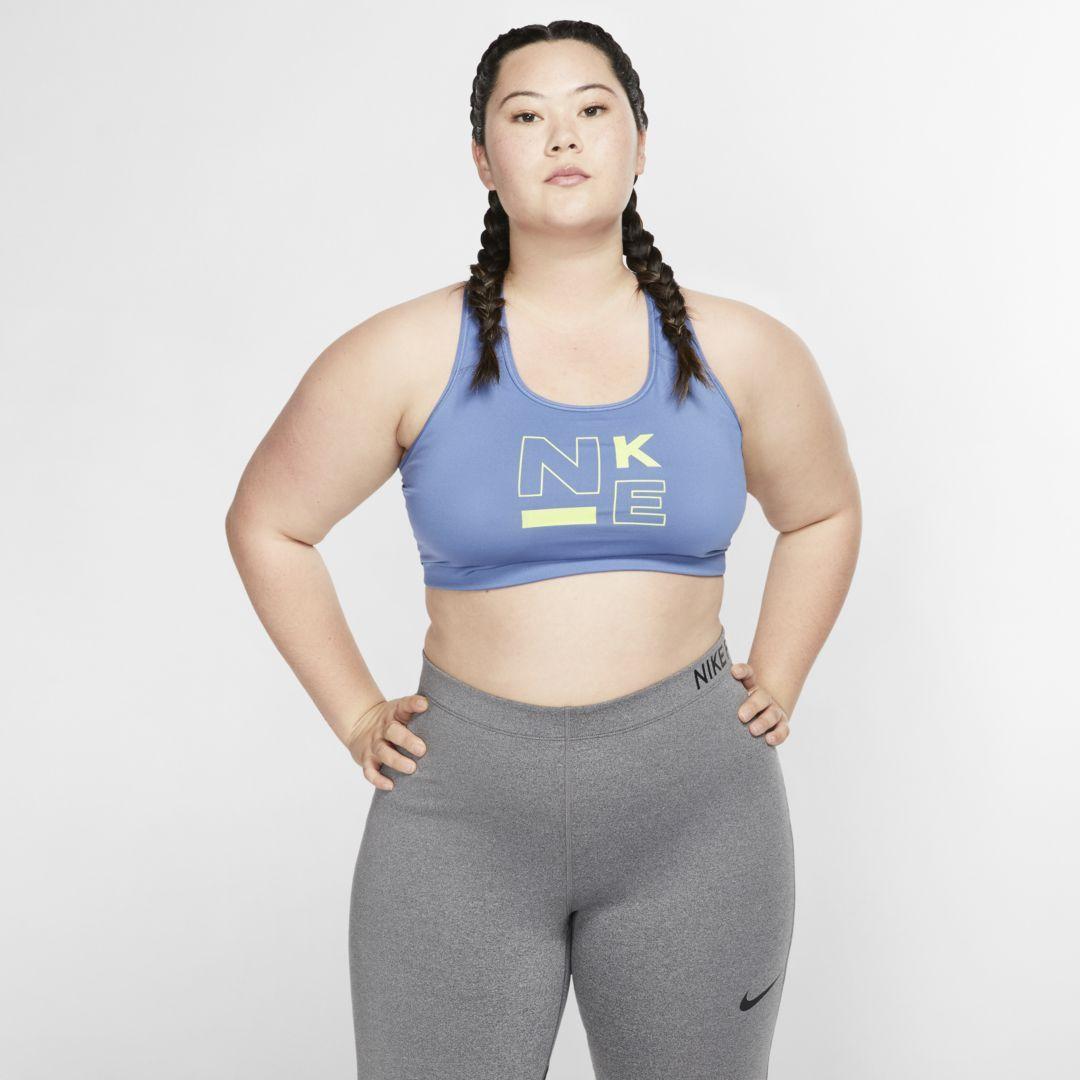8890cca30aef0 Nike Swoosh Women's Medium Support Sports Bra (Plus Size) Size 3X (Indigo  Storm)