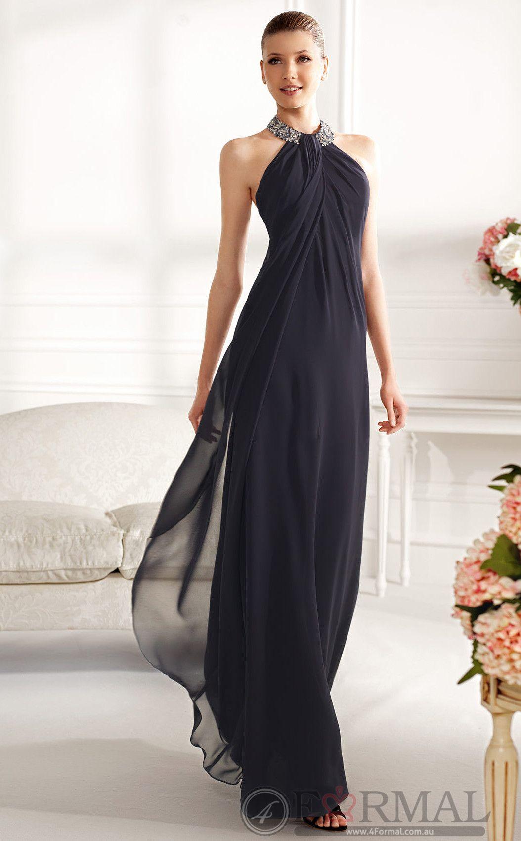 Blue long evening formal dress for prom jtau at formal