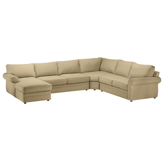 Pearce Roll Arm Upholstered Right 4 Piece Chaise With