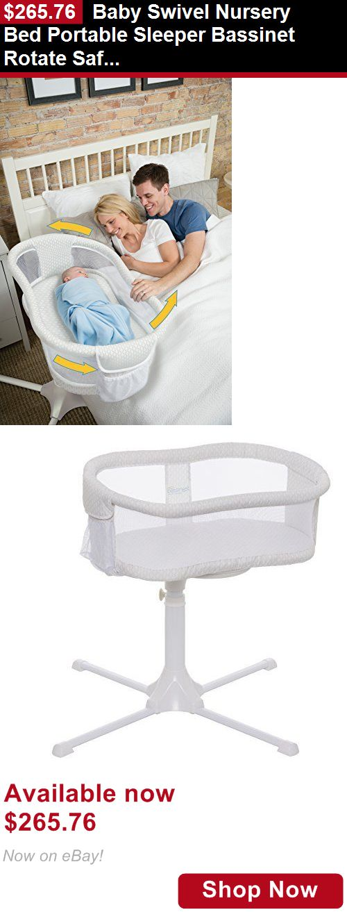Baby Co-Sleepers: Baby Swivel Nursery Bed Portable Sleeper Bassinet Rotate Safe Visible Sleep BUY IT NOW ONLY: $265.76