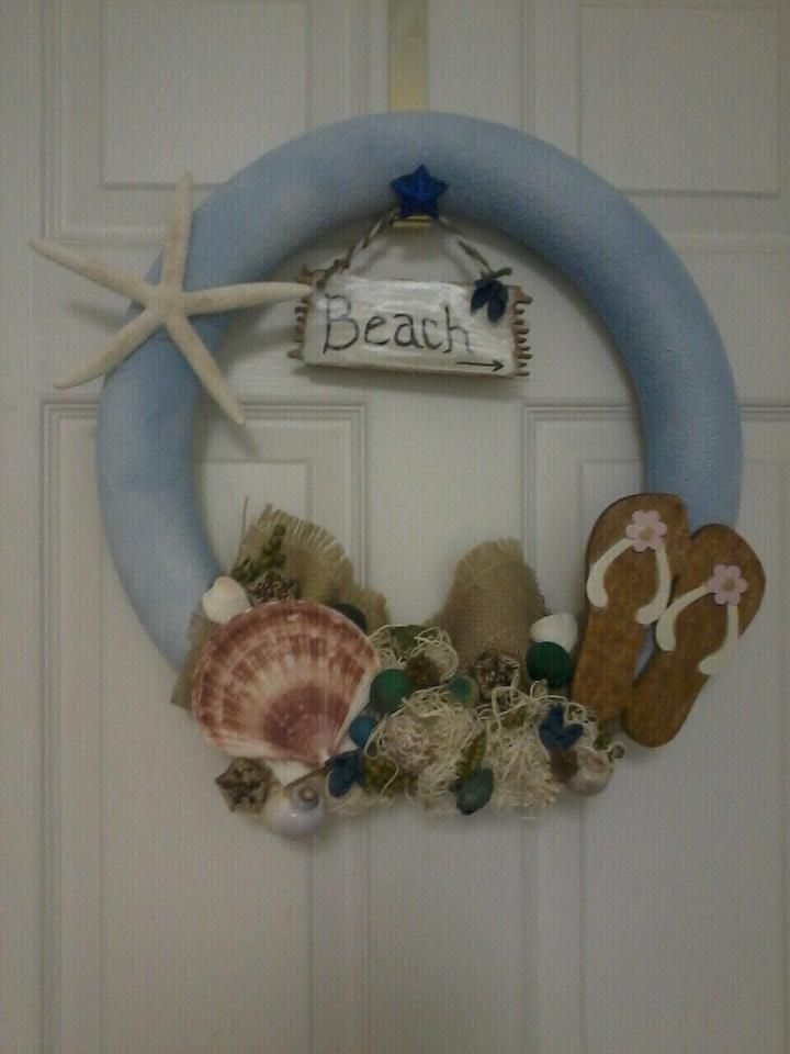 My Beach Wreath Used A Pool Noodle Michael S Craft Store For