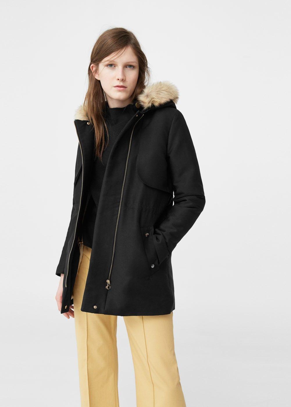 1f4caa199 Faux fur appliqué quilted parka - Women   Transitional Coats   Parka ...