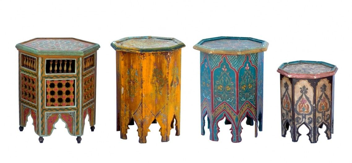 moroccan accent tables set table furniture plan living ...
