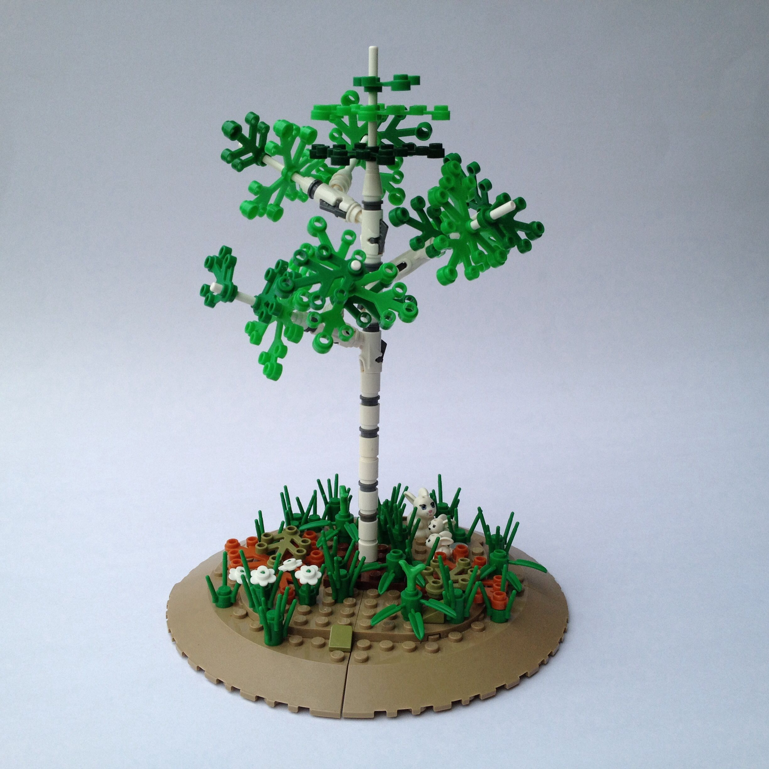 Lego Birch Tree Wow They Used Stud Shooters To Het Those Angles