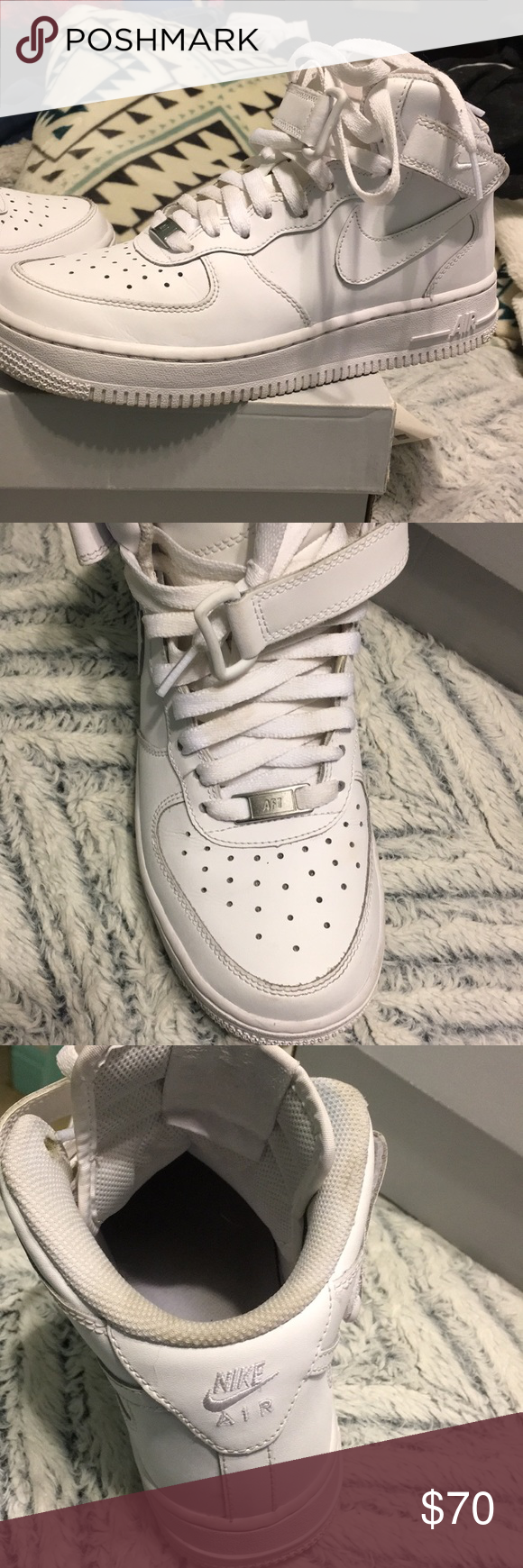 buy popular 8151c 4a2c7 Nike Air Force 1 mid (GS) Thease shoes are in great condition barely  creased, size 5.5 in girls grade school. Nike Shoes Sneakers