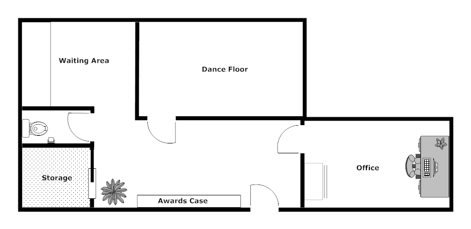 Dance Studio Layout