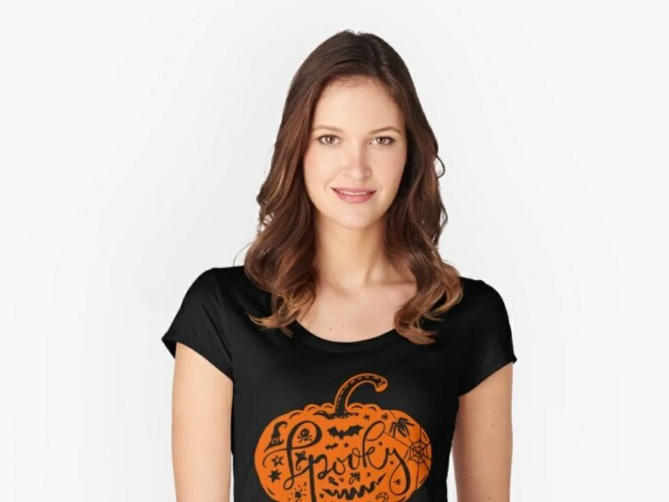 Halloween spooky Pumpkin Sticker , Tee , Sweatshir