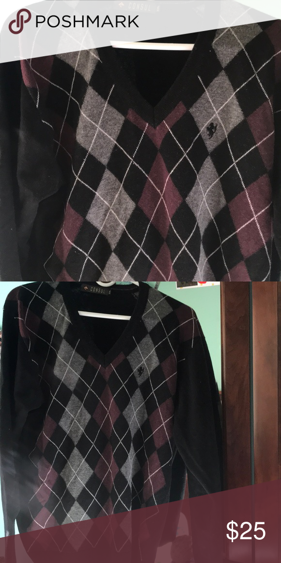 89bb9c04953ad9 Black Sweater Formal Black Checkered Sweater - Maroon, Grey, and White  designs Sweaters V-Neck