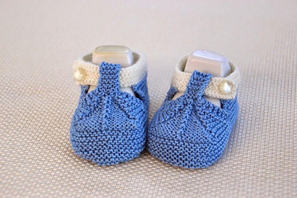 DIY Cómo tejer patucos sandalias bebe con dos agujas