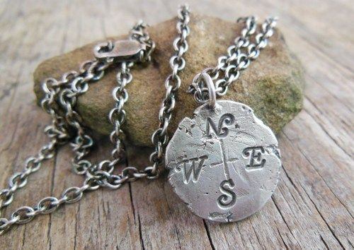 Sterling silver compass necklace forged rustic pendant mens sterling silver compass necklace forged rustic pendant mens jewelry discount mens jewelry where to buy mens jewelry mens gold jewelry aloadofball Gallery