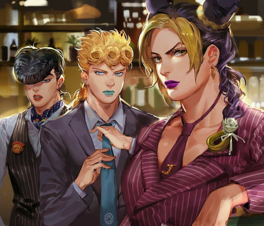 They Are All So Sexy It Isnt Fair Josuke Giorno And Jolyne