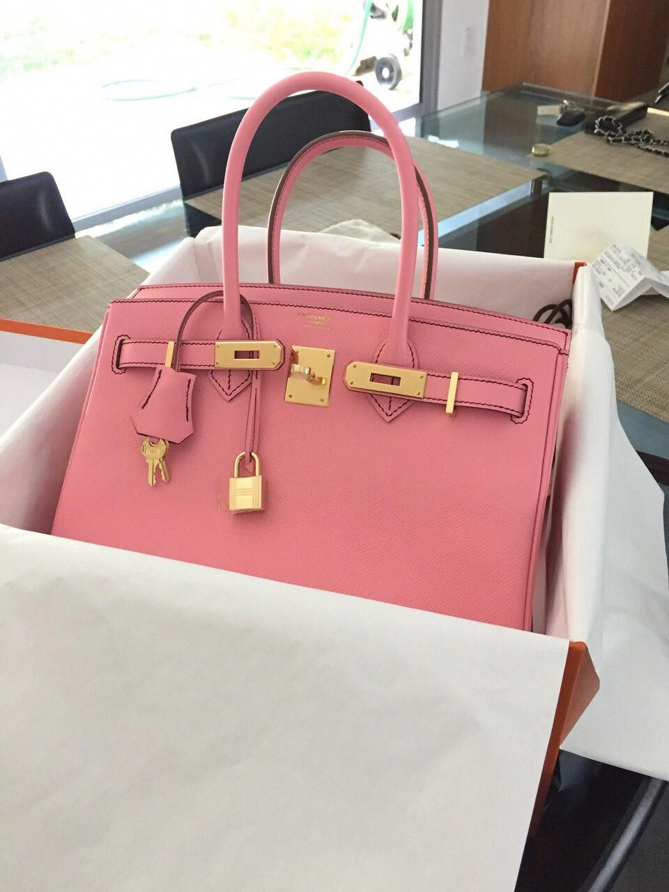 8543064381b Yummy Special Order Hermes Birkin 30 Rose Confetti Pink Bag   Designerhandbags