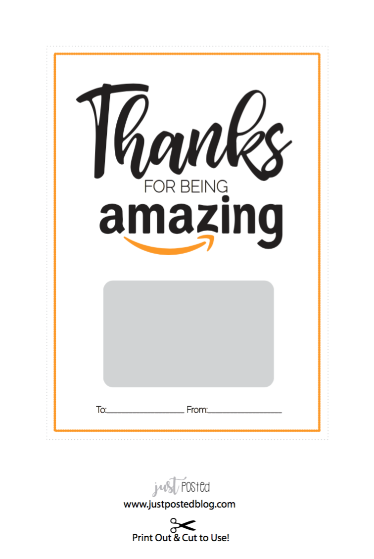 Free Printable For An Amazon Gift Card Just Posted Teacher Gift Card Amazon Christmas Gifts Amazon Gift Card Free