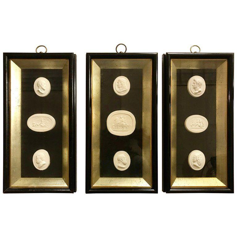 27 Grand Tour Cameos intaglios Gems Medallions plaster cameo seals Classic #1