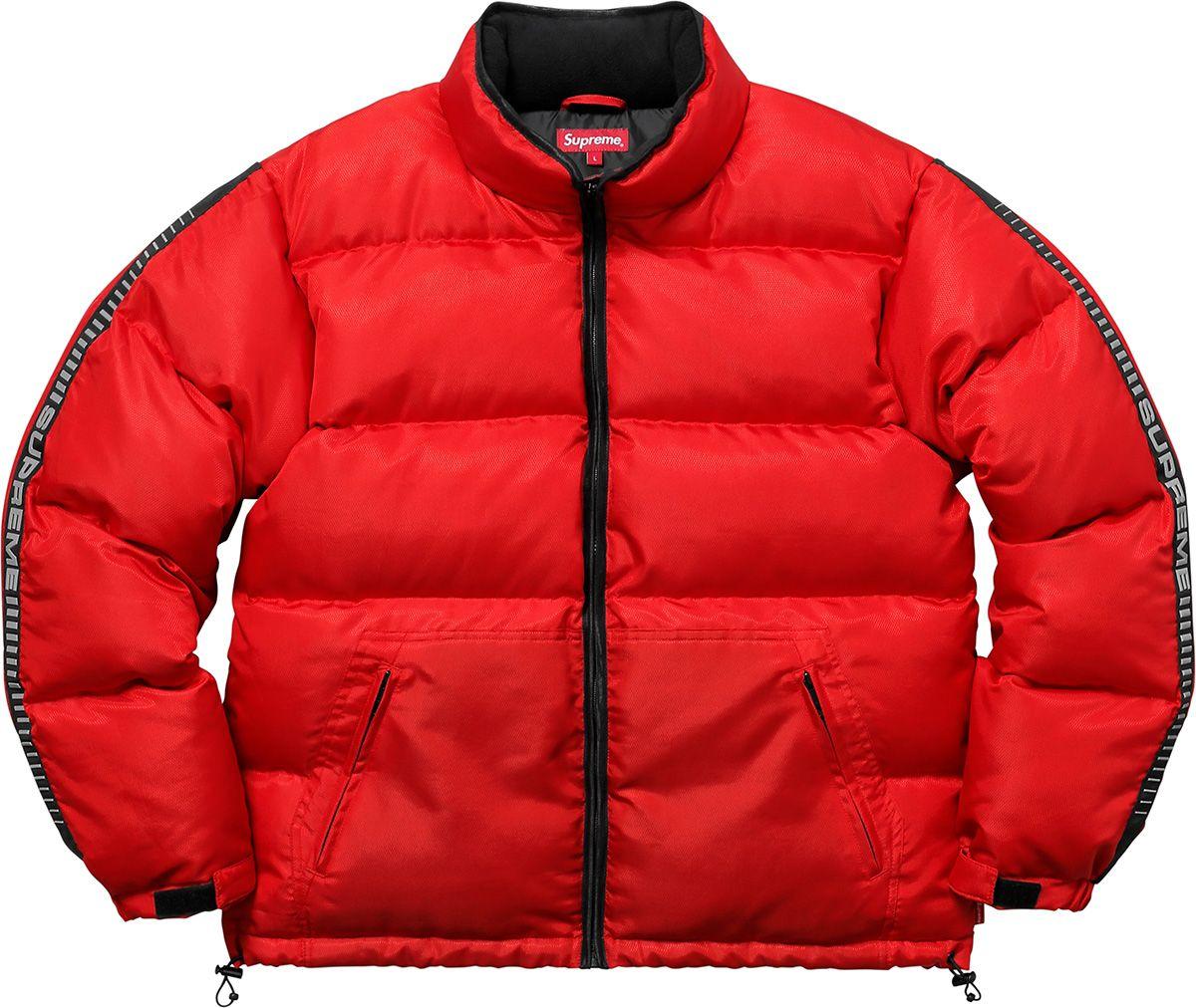 Supreme Reflective Sleeve Logo Puffy Jacket Jackets