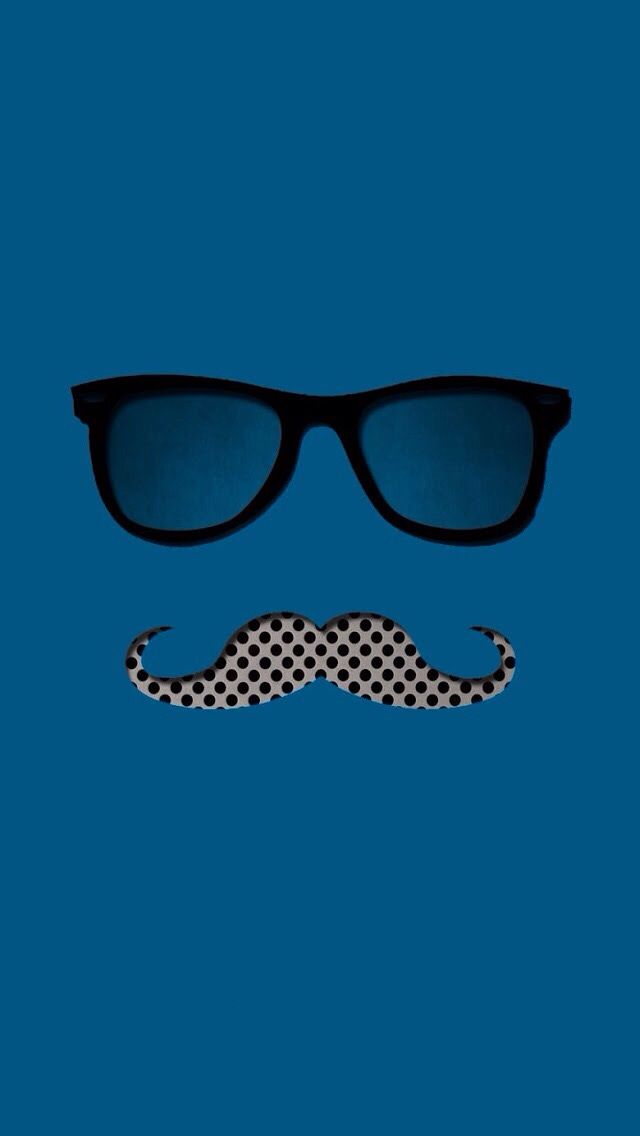 Mustaches And Glasses Are My Fav Mustache Wallpaper Glasses Wallpaper Phone Wallpaper Patterns
