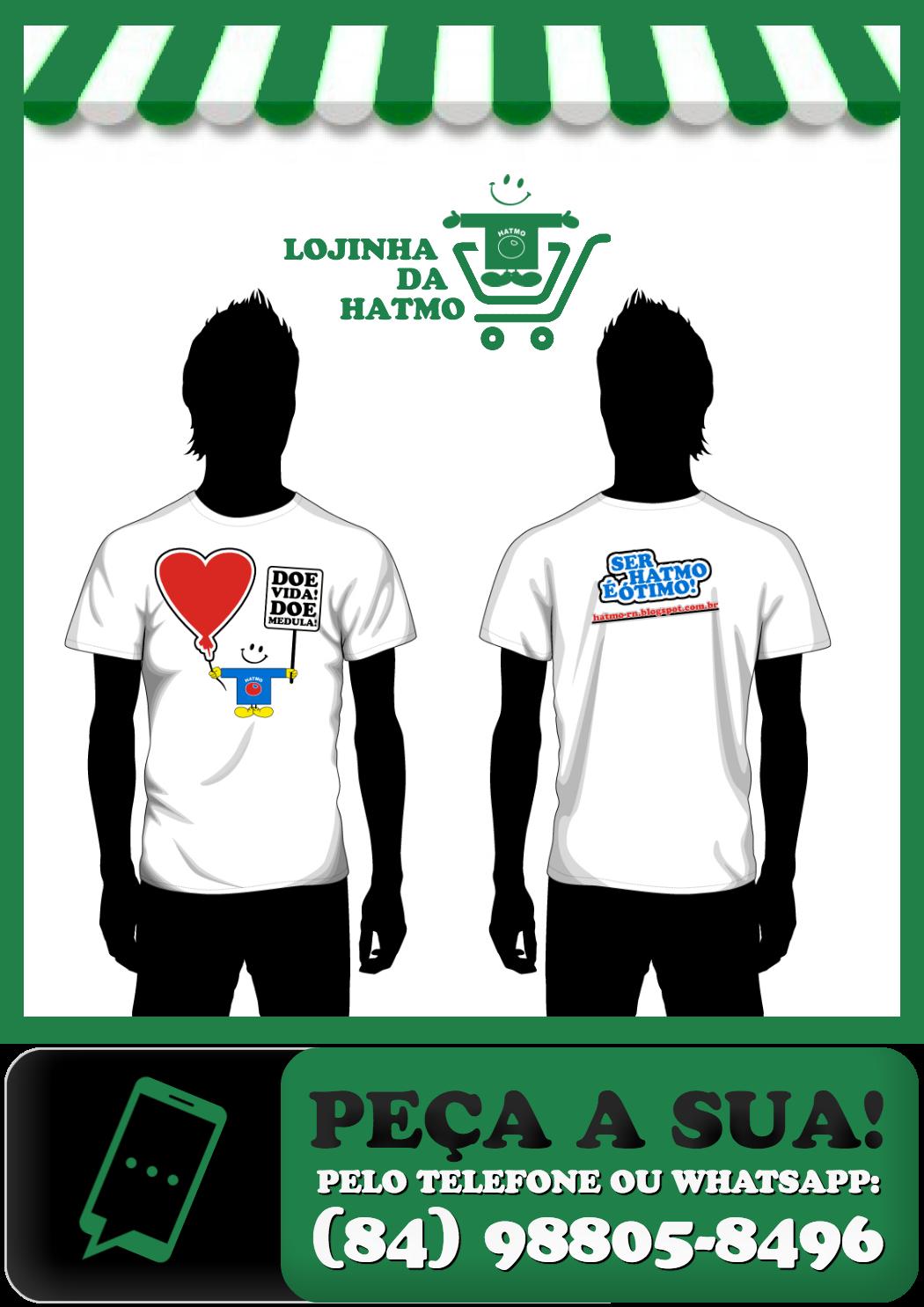 Camiseta Anjos da Páscoa 2016. Troque por uma cesta básica na sede da HATMO ou encomende por R$29,90 cada [+ Frete] pelo telefone/whatsapp (84) 988058496