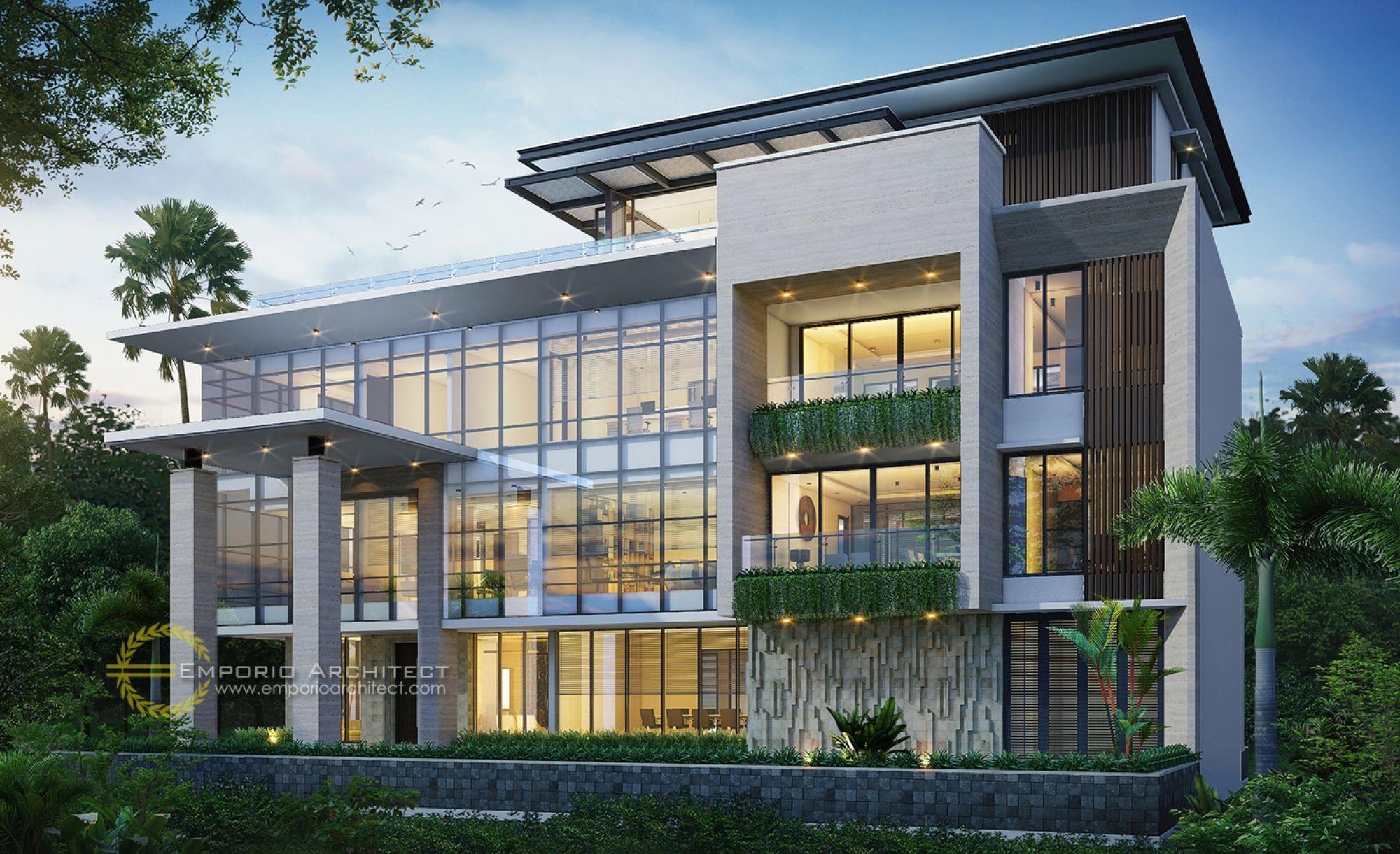 Desain Fasad Eksterior Rumah Desain Kantor Modern Bangunan kantor modern