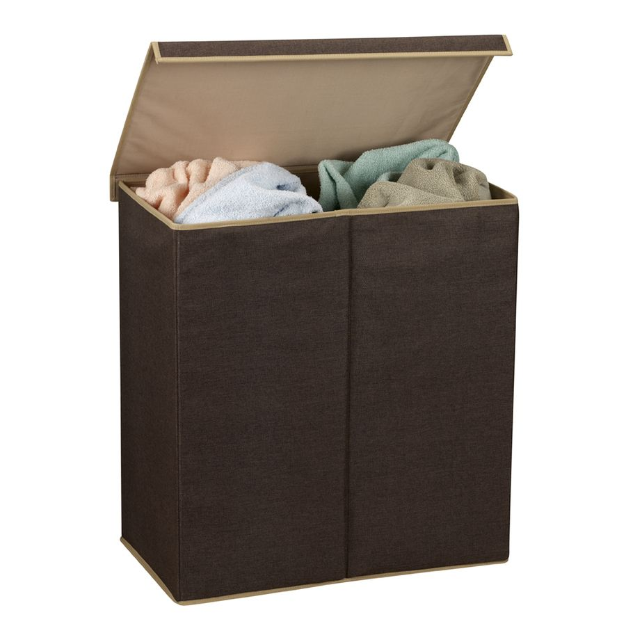 Lowes Laundry Baskets Household Essentials 1Piece Mixed Materials Clothes Hamper 5614