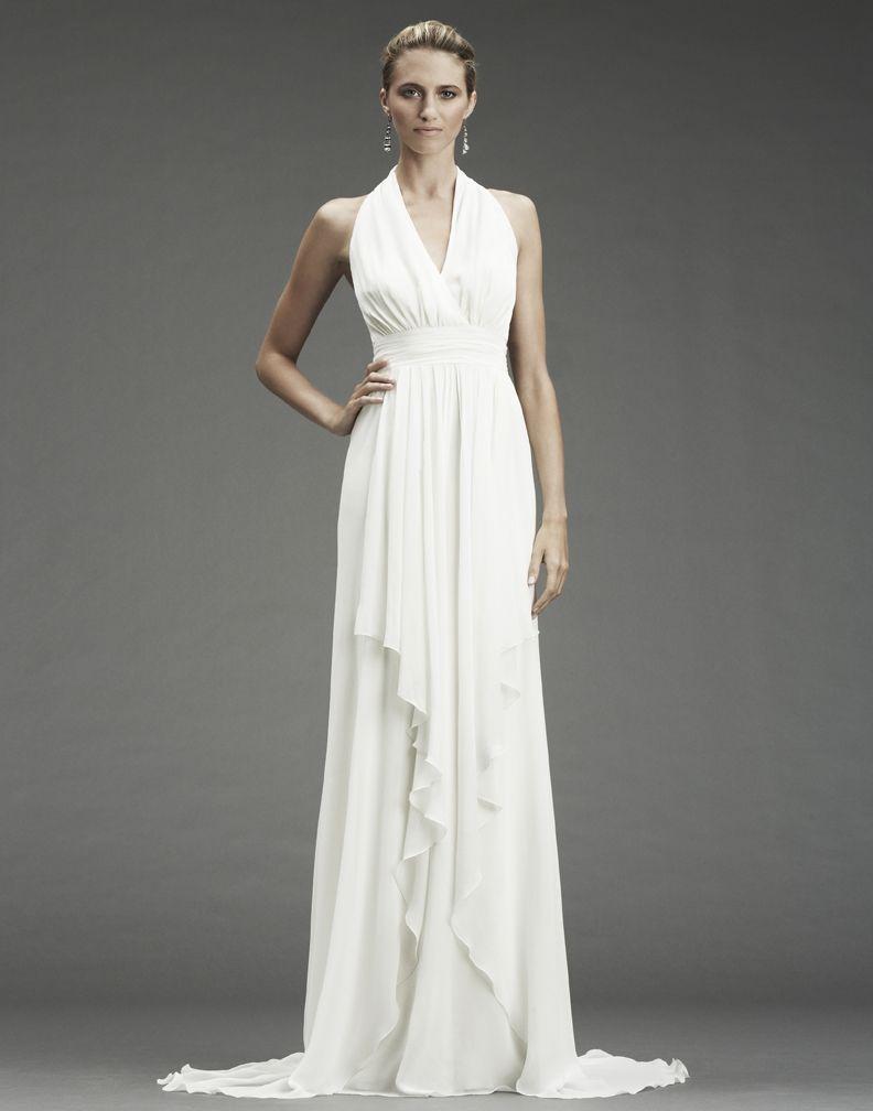Nicole Miller Wedding Dresses Halter Neckline White Grecian Inspired Fa0028 Origi Grecian Style Wedding Dress Formal Dresses For Weddings Grecian Wedding Dress