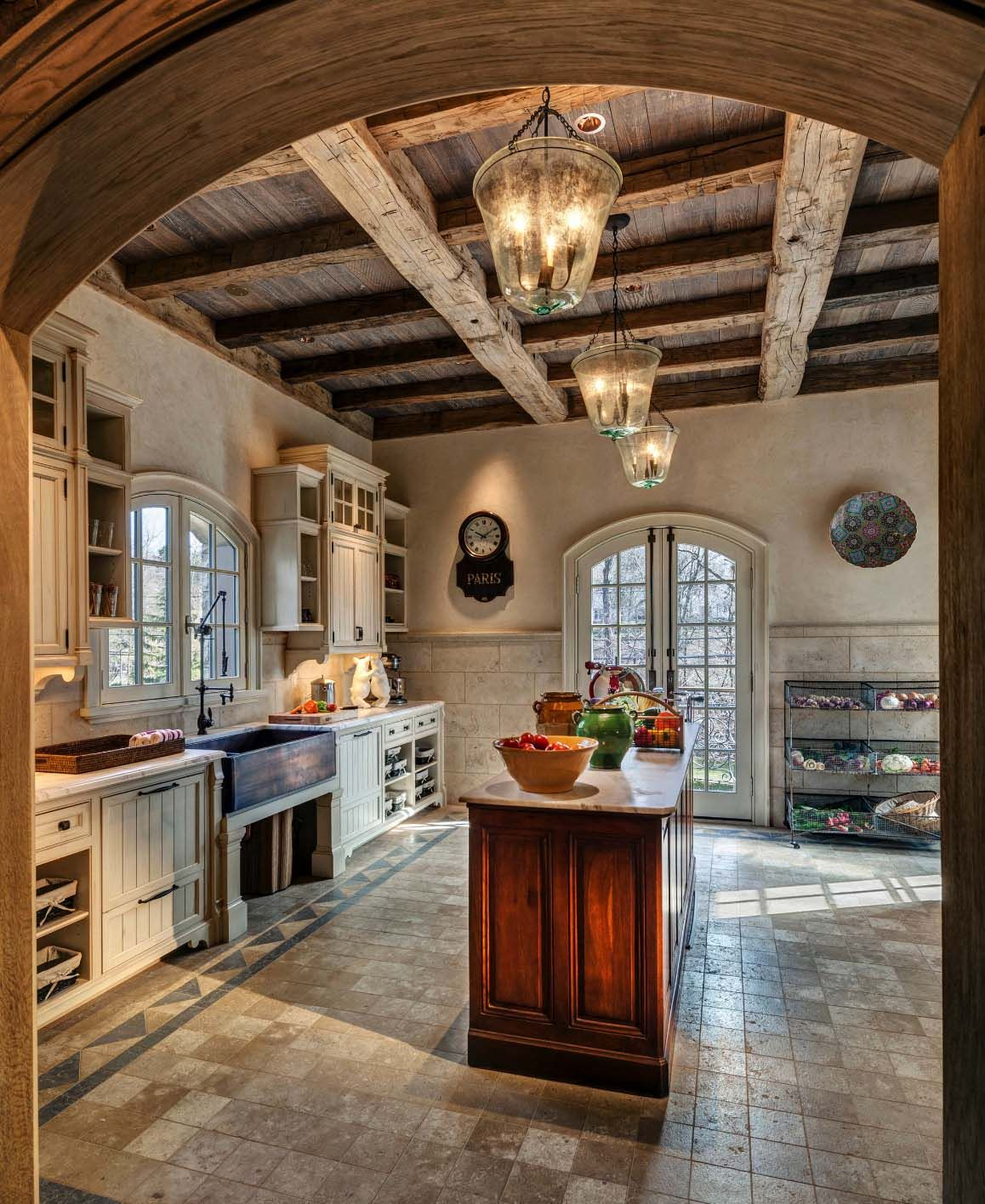 French Farmhouse Kitchen Design: Beautiful French Normandy-inspired Farmhouse In Rural
