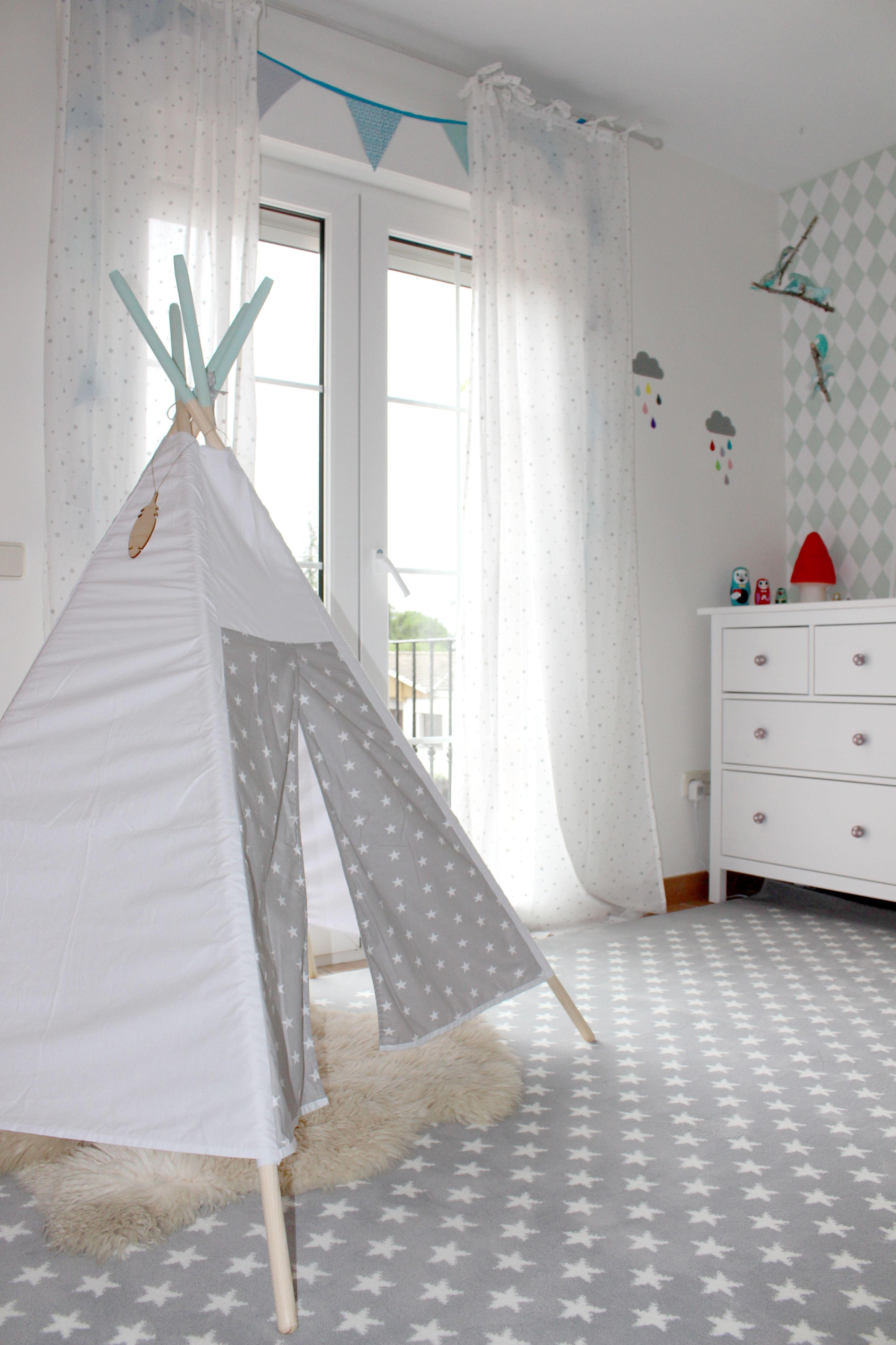 alfombra acrílica estrellitas gris / stars grey acrylic rug | my